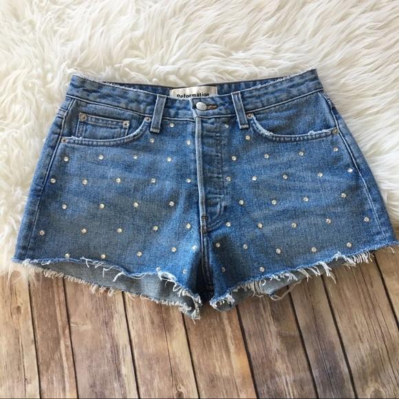 ebbe2b32 Reformation Vintage Cut Off Denim Jeans Shorts. M_5a7b79e52c705db989bf1e0a